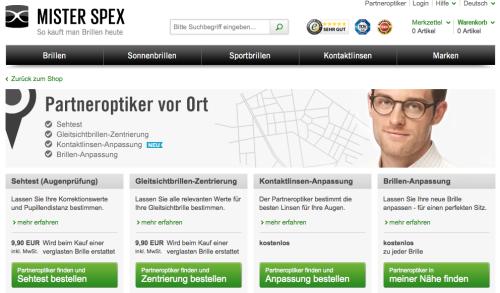 Mister Spex Partneroptiker