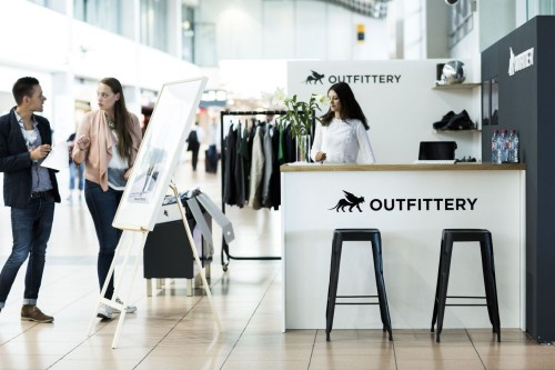 Outfittery Lounge am Flughafen