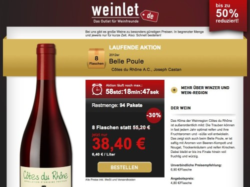 Weinlet.de von Hawesko
