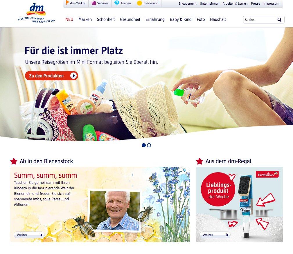 dm website ohne online shop e commerce f r entscheider. Black Bedroom Furniture Sets. Home Design Ideas
