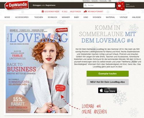 DaWanda LoveMag