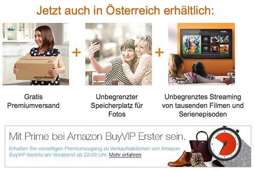 Amazon Prime in Österreich
