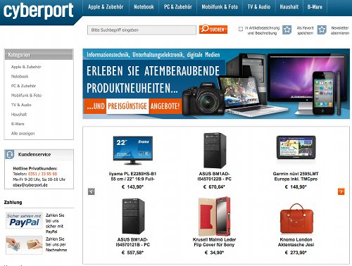 Cyberport-Shop auf eBay