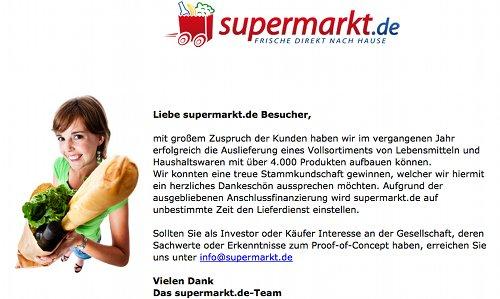 Supermarkt.de offline
