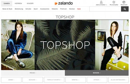 Topshop bei Zalando