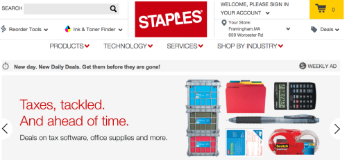 Staples Online-Shop