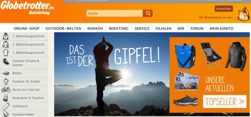 Globetrotter Online-Shop