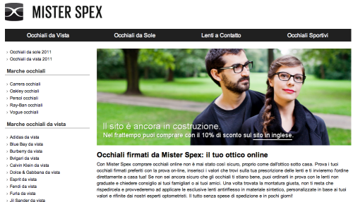 Mister Spex Italien