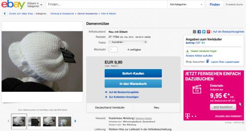 eBay Artikelseite