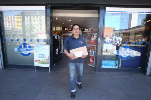 Hermes-Paketshop im ÖPNV