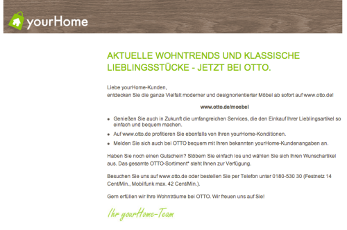 YourHome alte Version