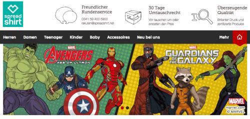 Spreadshirt bei Rakuten.de