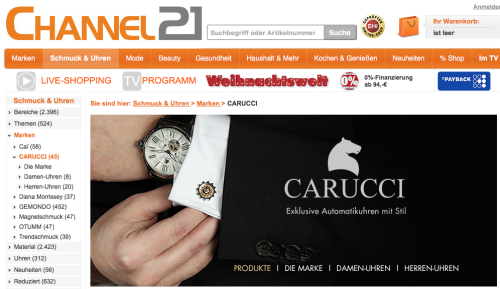 Carucci bei Channel 21