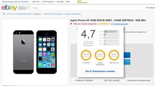 eBay Produktbewertungen