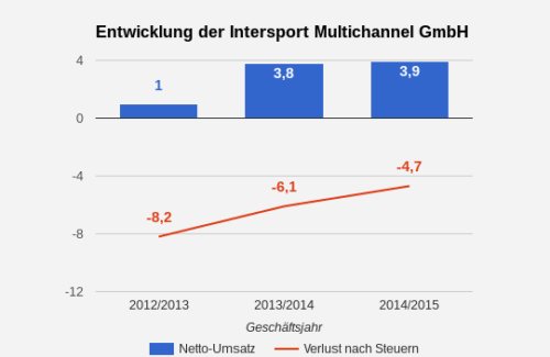 Intersport Online-Umsatz