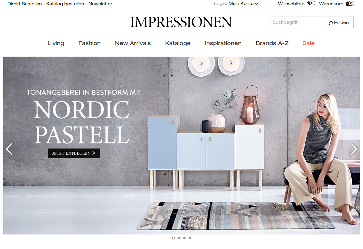 impressionen online shop e commerce f r entscheider. Black Bedroom Furniture Sets. Home Design Ideas
