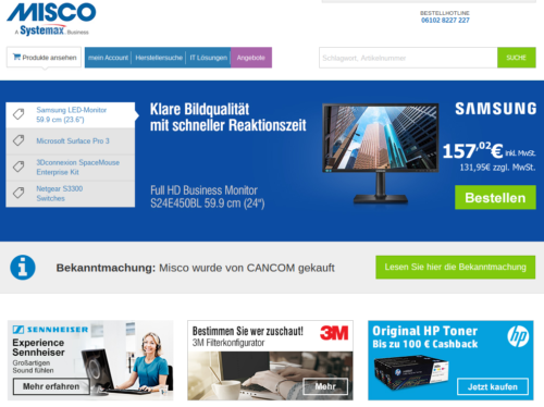 Misco Online-Shop