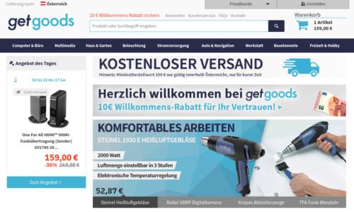 GetGoods.com Neustart