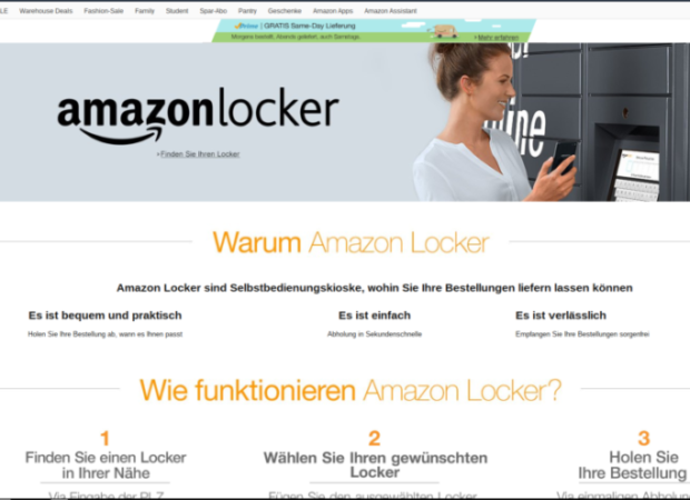 same moment delivery das wahre potenzial der amazon locker e commerce f r. Black Bedroom Furniture Sets. Home Design Ideas