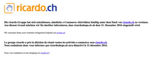 Ricardshops Offline