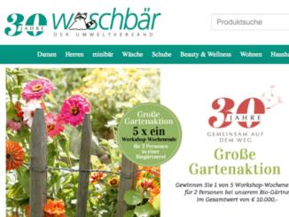 Waschbär Online-Shop