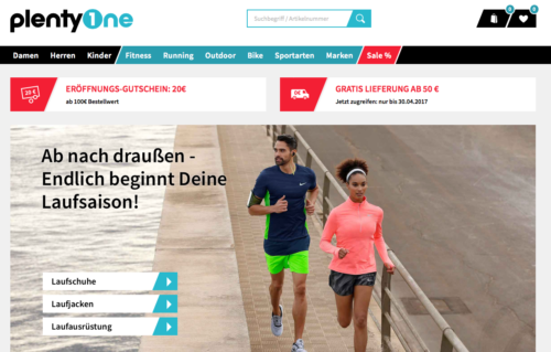 PlentyOne Online-Shop