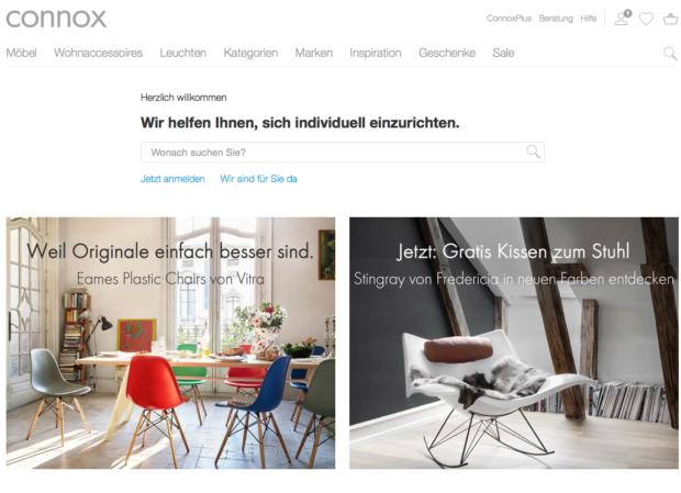 50 prozent plus m bel shop connox schafft 20 mio euro umsatz e commerce f r. Black Bedroom Furniture Sets. Home Design Ideas