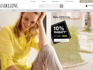 Madeleine Online-Shop