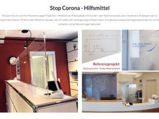 Corona Schutzwand Shop